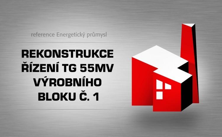 Rekonstrukce řízení TG 55MV výrobního bloku č. 1