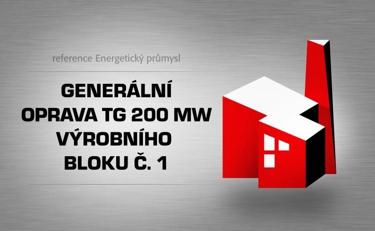 Generální oprava TG 200MW výrobního bloku č. 1