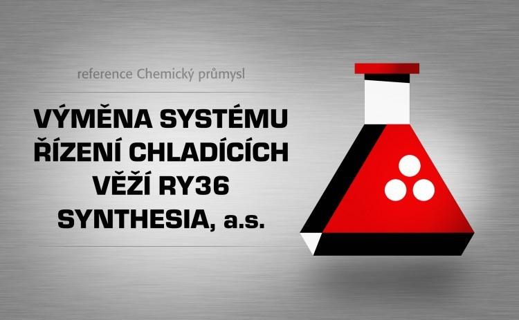 Výměna systému řízení chladících věží Ry36 Synthesia, a.s.
