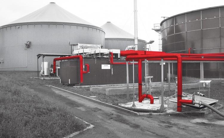Bioplynová stanice v Klesti